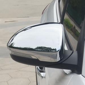 Image 5 - Pour Hyundai Tucson 2016 2017 2019 Chrome côté porte miroir couverture vue arrière bouchon moulage garniture superposition protecteur voiture style 2 pièces