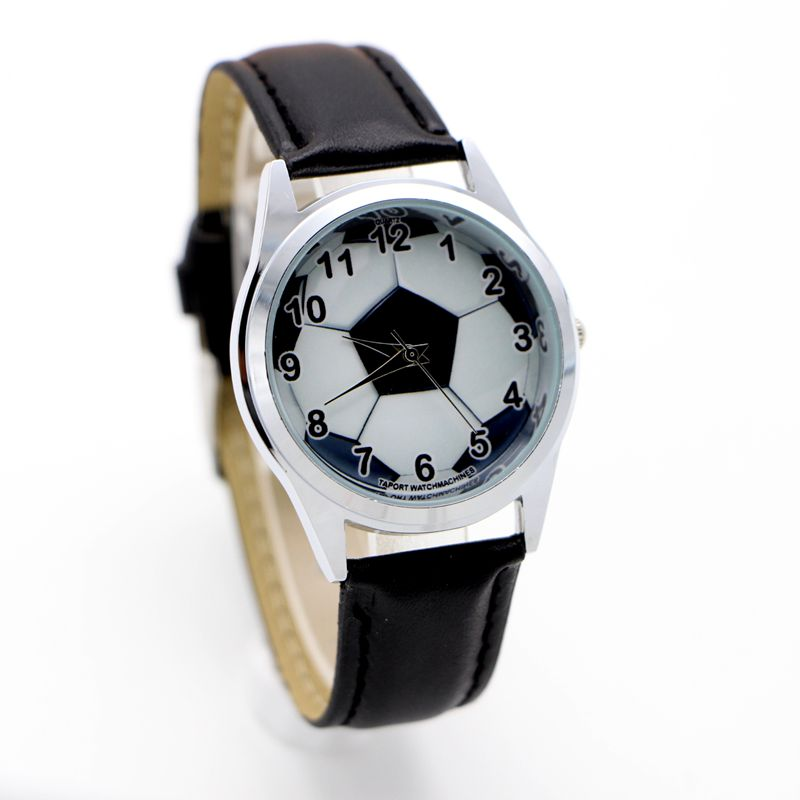 Football Quartz Kids Sports Fashion Cartoon Leather Watch Wristwatch For Boy Students Christmas Relogio Watches