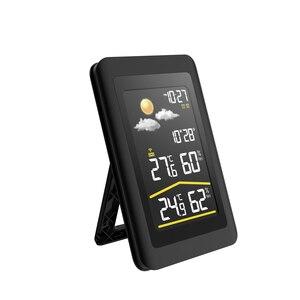 Image 3 - Baldr Wireless Weather Station Thermometer Digital Hygrometer Temperature Sensor Alarm Clock Snooze Forecast  US PLUG