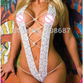 Sexy Lingerie Hot Underwear Halterneck Stripper Open Bra Crotch Women Sexy Bodysuit Lingerie Lace Sleepwear 3 Colors SD010
