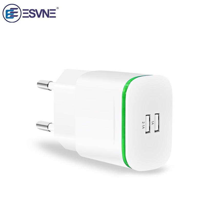 ESVNE Mobile Phone Charger 5V 2.1A EU Pls