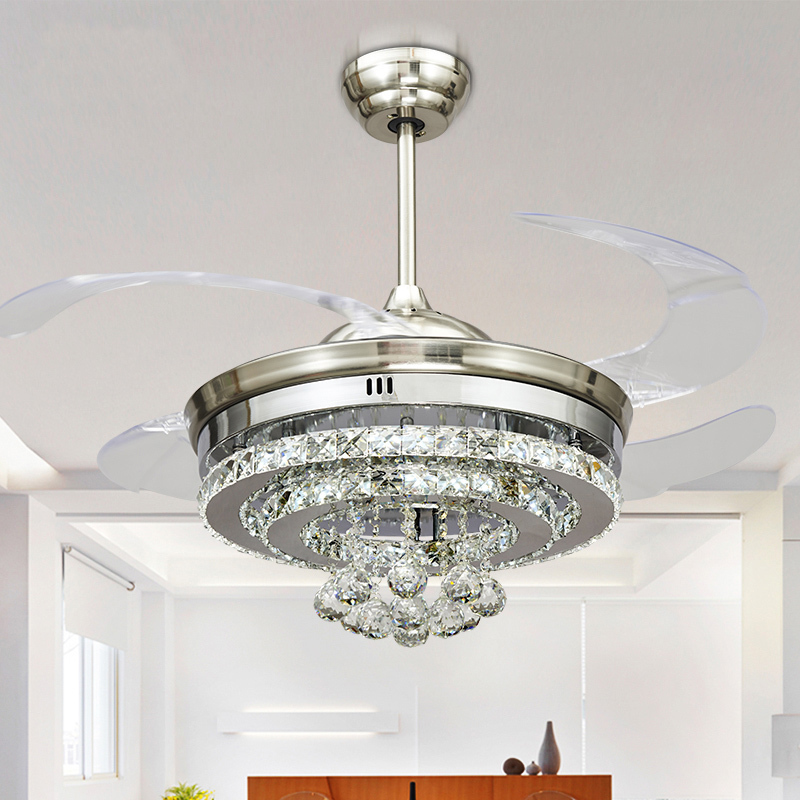 Ceiling Fan With Chandelier Light: Compare Prices On Ceiling Fan Crystal Chandelier- Online