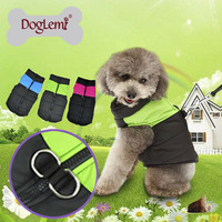 Free Shipping Dog Puppy Winter Puffer Vest Coat Pet Jacket D Ring