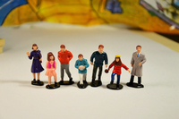 Mini Pvc Figure Model 1 43 Citizens Sand Table Toys Gifts Ornaments 7 Pcs Set
