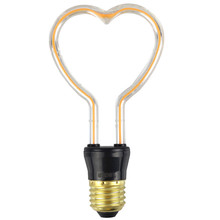 Retro Edison Light Bulb E27 110V 220V 4W LED Christmas Love I You Holiday Lights Indoor Lamp Wedding Filament