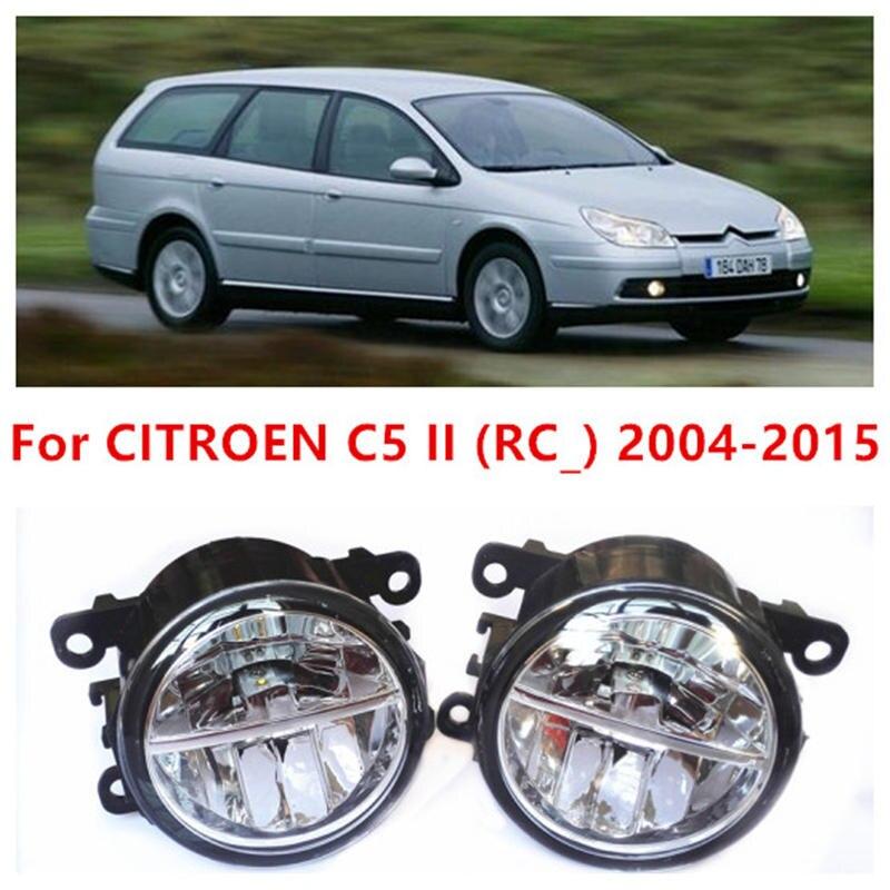 For CITROEN C5 II (RC_) 2004-2015 Fog Lamps LED Car Styling 10W Yellow White 2016 new lights 5 5 car obd2 ii