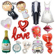 Wedding Balloons Foil Groom Bride Love Helium Ballon Anniversary Baloon Birthday Party Decorations Adult Event Party Supplies big wedding foil balloons groom bride love helium ballon air baloon birthday party decorations adult baloes event party supplies