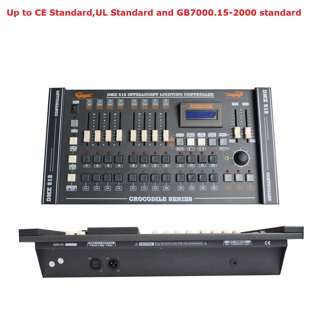 International Standard CROCODILE 1216 DMX Controller Control Moving Head Led Par Lights Consoles DJ 512 Dmx Controller Equipment dmx512 digital display 24ch dmx address controller dc5v 24v each ch max 3a 8 groups rgb controller