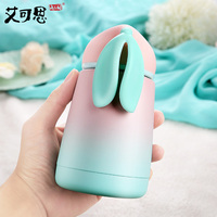 300ML Baby Drinking Cups Leakproof Thermos Water Bottle Portable Feeding Bottle Stainless Steel Cup Gift For