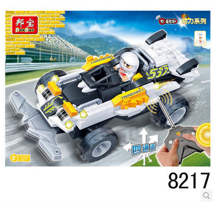 Banbao 8217 RC Racing Car Model 165 pcs Plastic Building Block Sets Educational DIY Bricks RC Toys for children