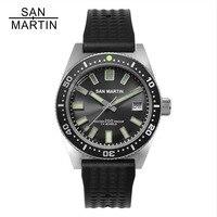 Сан Мартин 62MAS Мужские автоматические часы нержавеющая сталь Дайвинг часы 200 м водостойкий 12 световой ободок Relojes Hombre 2018