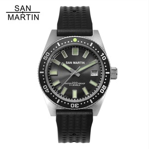 Image 1 - סן מרטין 62MAS גברים אוטומטי שעון נירוסטה שעון צלילה 200m מים עמיד 12 זוהר לוח Relojes Hombre 2018