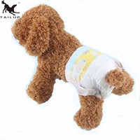 TAILUP Pet Dog Female Puppy Disposable Diapers Super Absorbent Physiological Pants Underwear Nappy XXS XS S