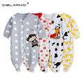 Cielarko macacão corpo terno pijama de algodão do bebê das meninas do menino bonito one piece clothing manga comprida romper jumpsuit baby clothing 115