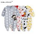Cielarko muchachas del bebé lindo de los mamelucos del algodón traje pijama de una pieza clothing clothing mono del bebé del mameluco largo de la manga 115