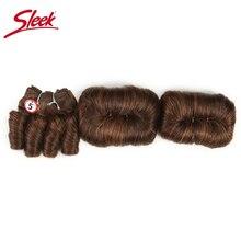 洗練されたカラフルな髪バンドルピアノ P4/30 ブラジル毛織りバンドル Glam ショート 3 個カーリーレミー人間毛延長