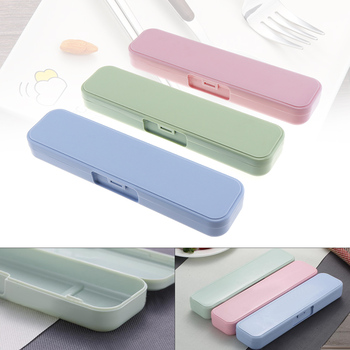 цена на 3 Colour Universal Portable PP Conjoined Side Opening Cutlery Receptacle Tableware Storage Box with Fixed Buckle