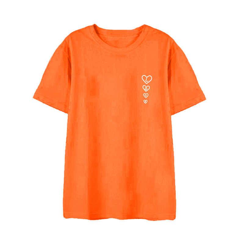 Kpop BLACKPINK хлопковая Футболка женская K-pop футболка в стиле хип-хоп Женская/Мужская 2019 корейская Новая розовая модная повседневная футболка женская/мужская одежда