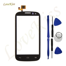 Сенсорный экран digitizer стекло для alcatel one touch pop c5 Ot5036 5036 5036D 4.5 дюймовый Сенсорный Экран Передняя Стеклянная Панель Датчик + инструменты