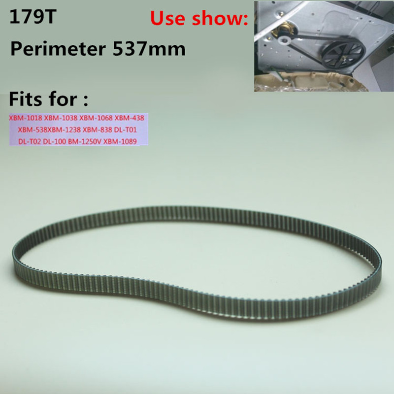 1 piece Bread Machine Belts Bread Maker Parts 179T Perimeter 537mm Breadmaker Conveyor Belts Kitchen Appliance Parts