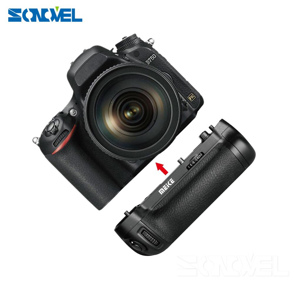Meike mango para Nikon d750 incl como mb-d16 2x batería