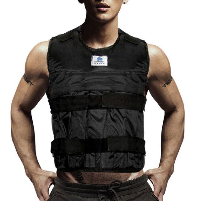 Взвешенный жилет для бокса обучение Оборудование Регулируемый Упражнение Черная курточка Swat Санда спарринг защиты Weightloading пустой