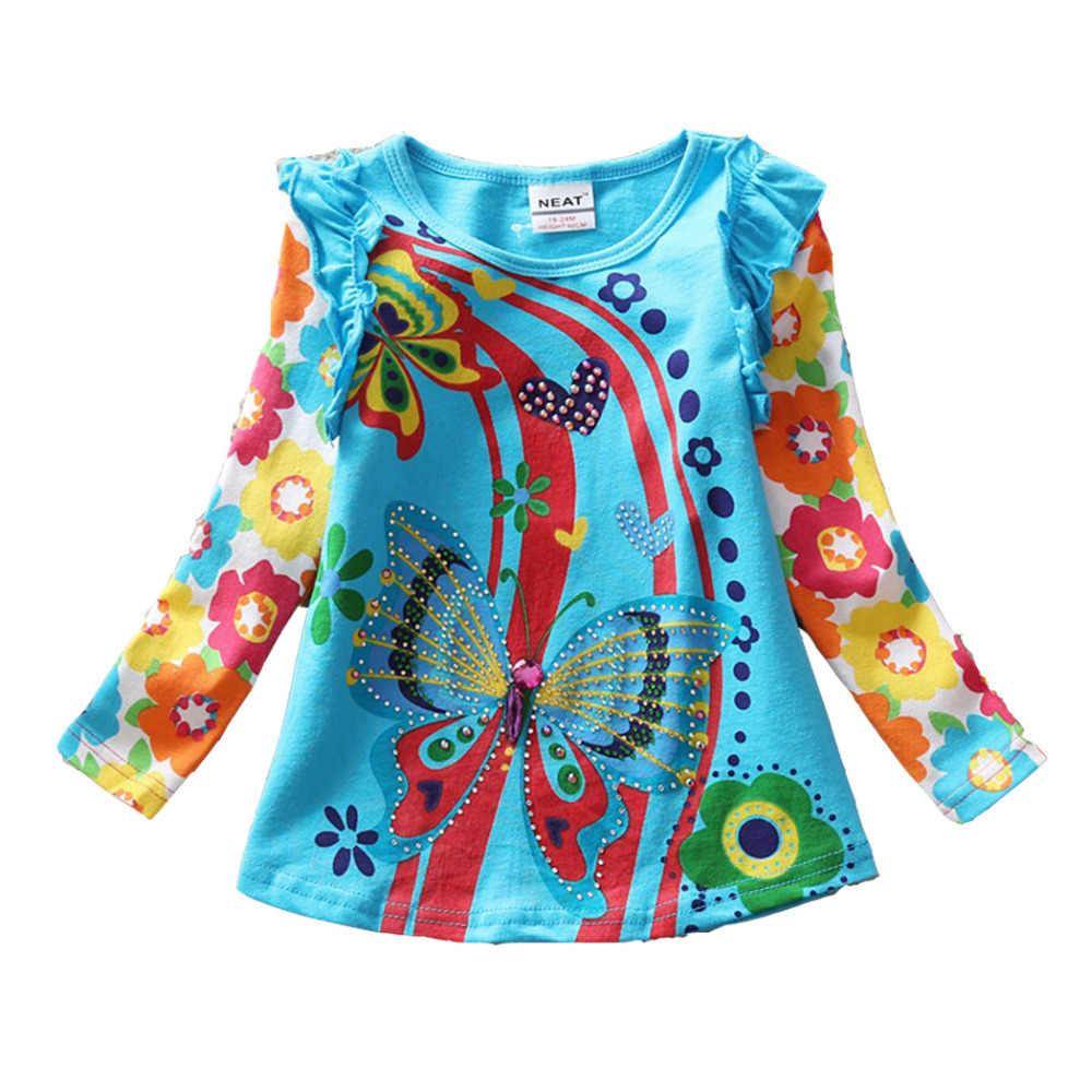Vikita Meisjes T-shirts Voor Kinderen T-shirts Voor Meisjes T-shirts Lange Mouwen Kinderen Tops Meisje Kleding 2018 Peuters Tees F2101 Mix