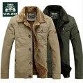 Nian AFS JEEP Cashmere Inner espessura Man ' s casaco de inverno, Gola de pele Big 100% algodão rússia homens de carga inverno casacos casacos de lã