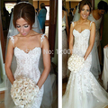 2016 Limited Vestidos De Novias Romantic Wedding Gowns Sweetheart Appliqued Lace Dresses Sexy Bride Dress With Spaghetti Straps