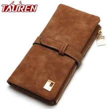2019 New Fashion Women Wallets Drawstring Nubuck Leather Zipper Wallet Womens Long Design Purse Two Fold More Color Clutch cheap TAUREN Solid Standard Wallets Lock 18cm 0 15KG 2 5cm Pu leather Polyester Interior Slot Pocket Cell Phone Pocket Interior Zipper Pocket Interior Compartment Note Compartment Photo Holder Card Holder
