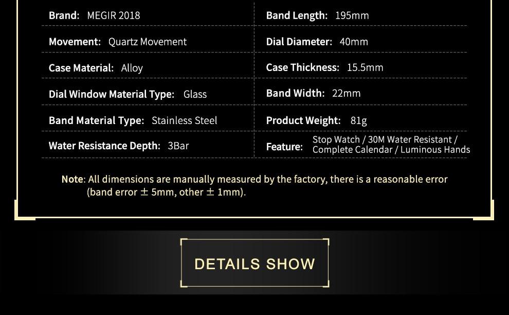 2018-En_06  MEGIR Males's Large Dial Luxurious Prime Model Quartz Wristwatches Artistic Enterprise Stainless Metal Sports activities Watches Males Relogio Masculino HTB10G3xu4uTBuNkHFNRq6A9qpXaR