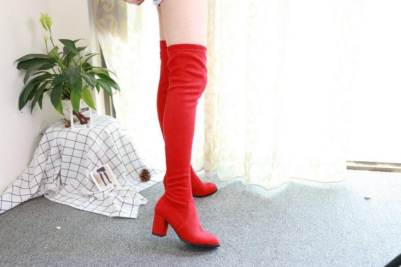 Women Over The Knee High Heel Winter Sexy Boots 54