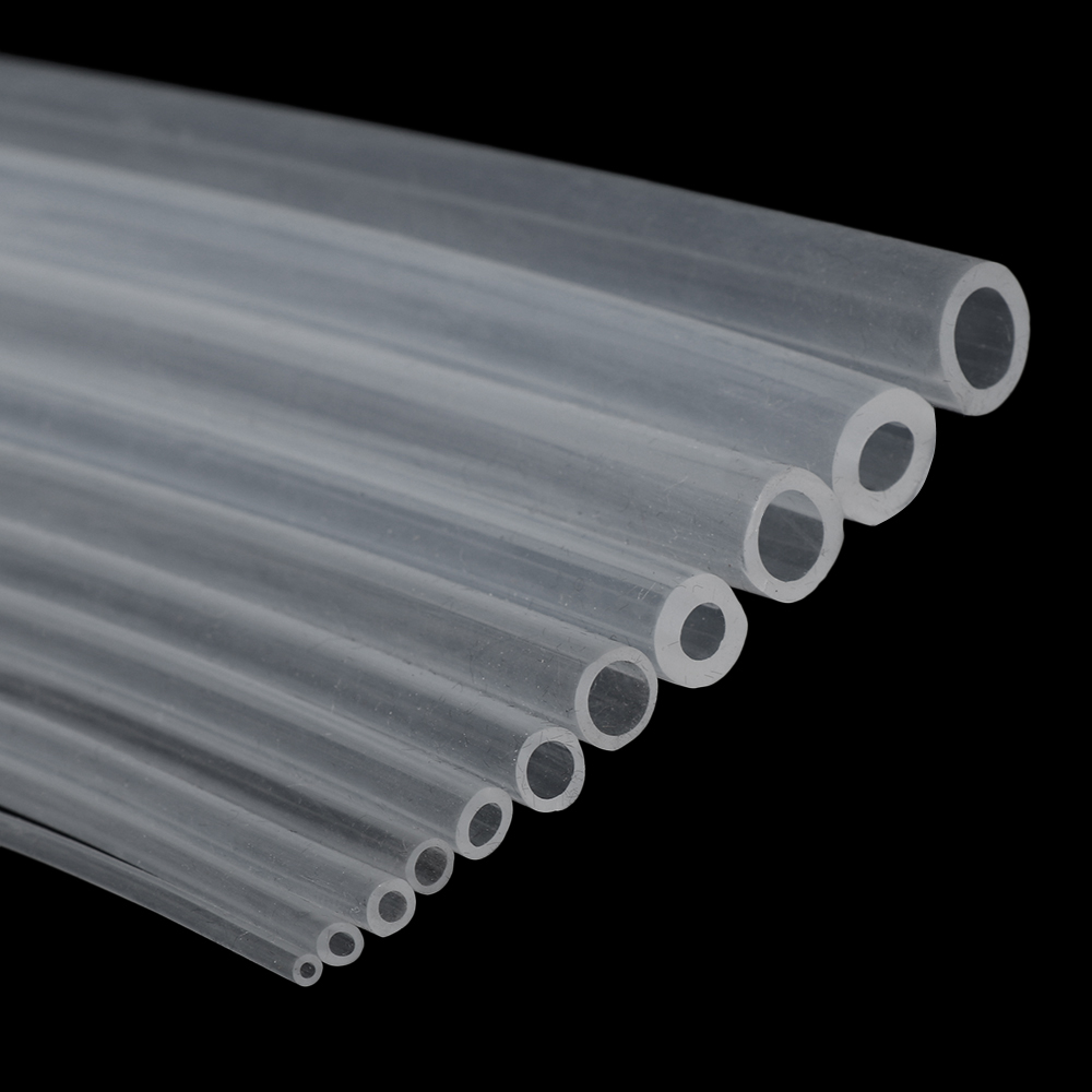 Clear Silicone Translucent Soft Rubber Tube Flexible Hose Food Grade Pipe 2-15mm