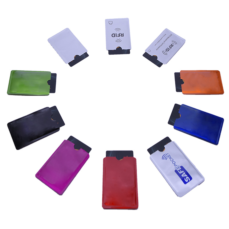 20PCS/lot RFID 13.56mhz IC Card Protection NFC Security Card Shielded Sleeve Cards Blocking Prevent Unauthorized Scanning
