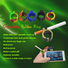 New Design Two Types Available Silicone Ring Finger Hand Rack Cigarette Holder For Regular smoking Accessories.Color Random