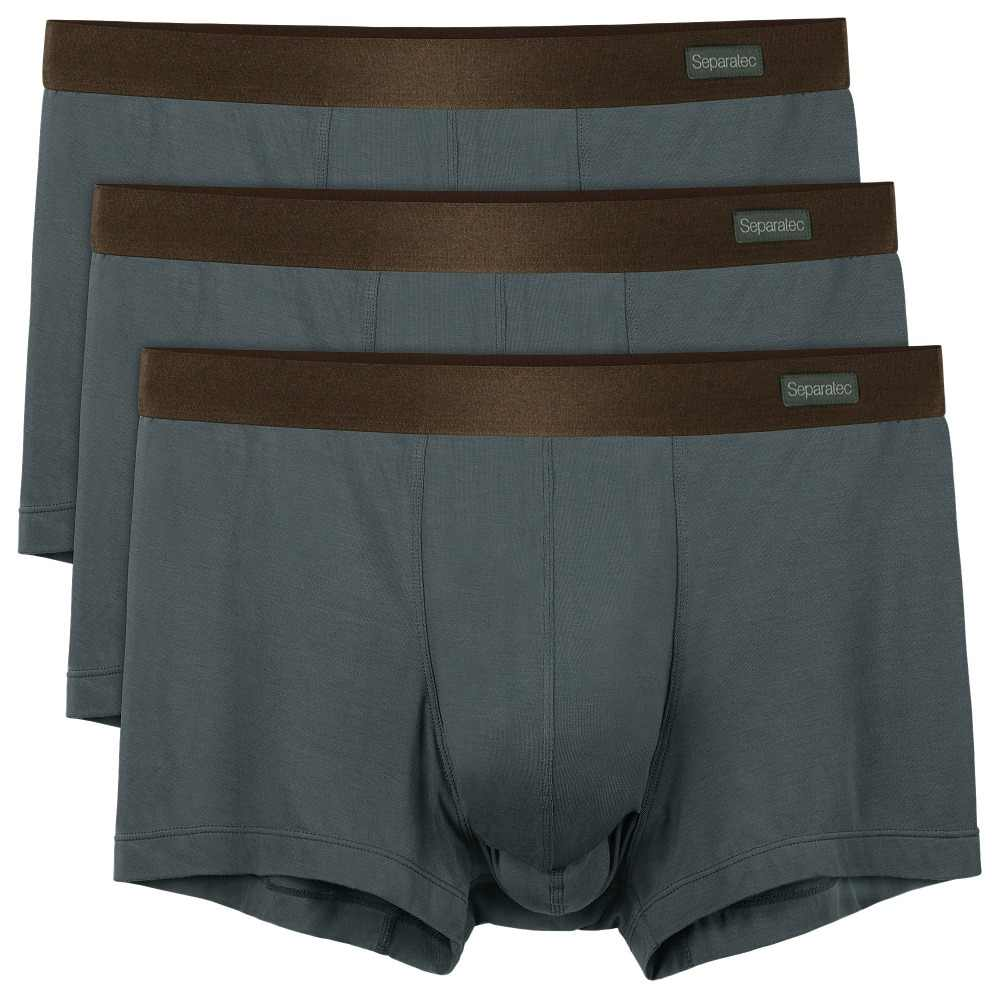 f16b3b44bebc David Archy/Separatec Brand Large Size Trunks Man 3 PACK BAMBOO DUAL POUCH  ICE SILK