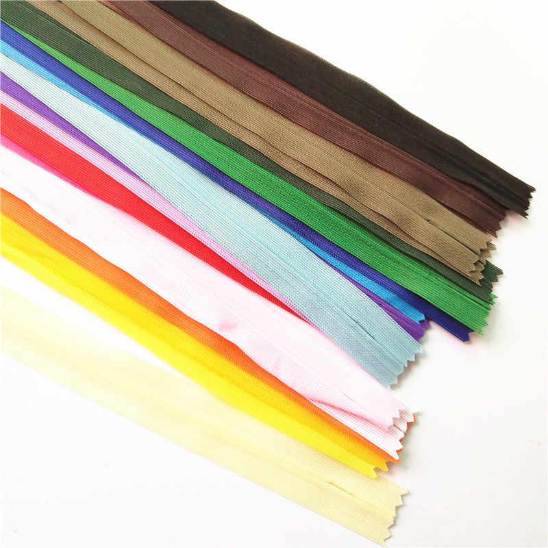 10 Uds. Cremalleras invisibles de 40cm para falda pantalones cierre de cremallera de encaje cremallera para costura cierre de cremallera vestimenta accesorios de costura
