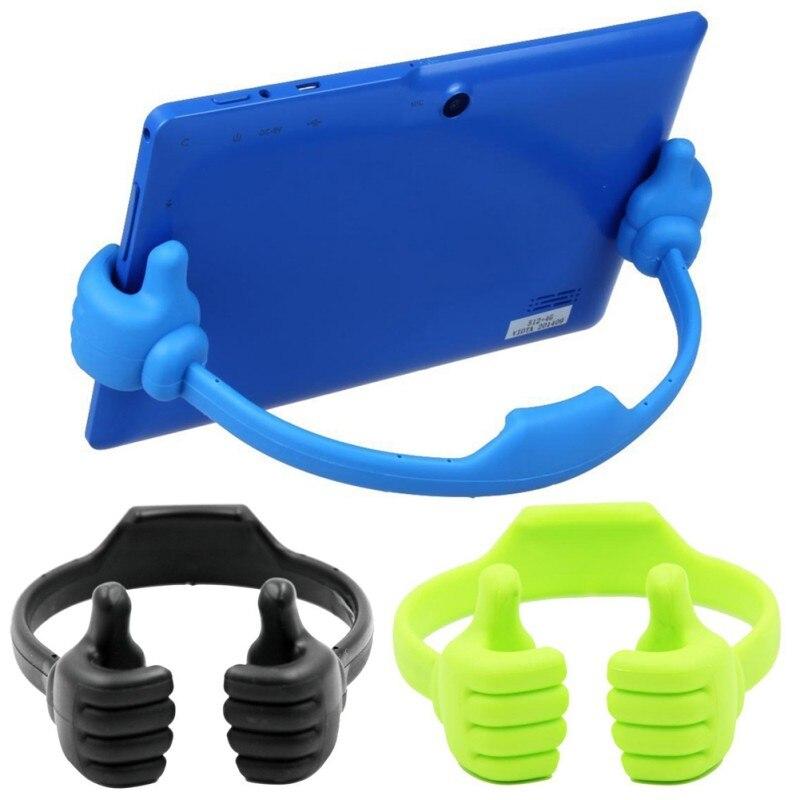 Universal Lazy Tablets Phone Holder Flexible Mobile Cell Phone Desk Desktop Table Mount Stand Portable Thumb Bracket USA Stock