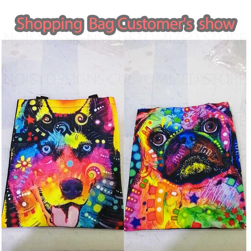 Noisydesigns nouveau teckel Doxie chien imprimer Eco sacs d'épicerie réutilisables sac à provisions femmes Shopper sacs à main école filles fourre-tout sac