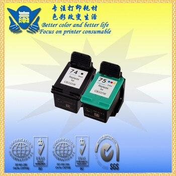 Remanufactured for HP 74 XL+ 75XL cartridge , for Photosmart: C4200, C4280, C4380, C4385, C4480, C4580 Officejet J5780, J6480