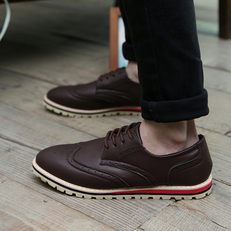 e8d9ba3b404647 2015 Spring Autumn Men Shoes Fashion New Wedding Shoes Men Comfortable Office  Brogue Shoes Oxford Shoes for Men Size 39 44 JL602-in Men s Casual Shoes  from ...