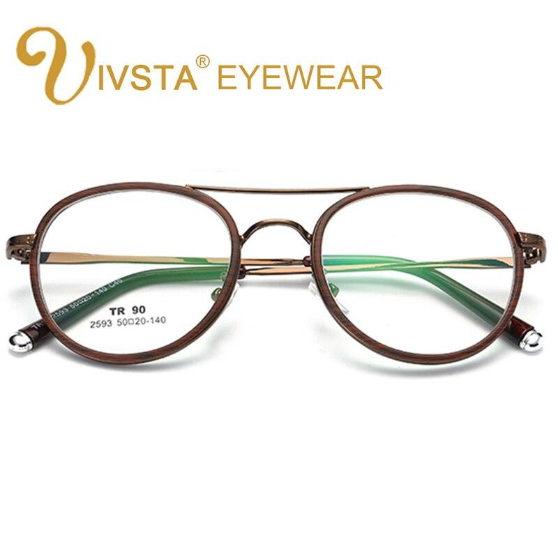 23122e5d00825 IVSTA Piloto Homens Óculos Óculos de Liga Frame de Espetáculo Prescrição  Eyewear Miopia Steampunk Gold Metal