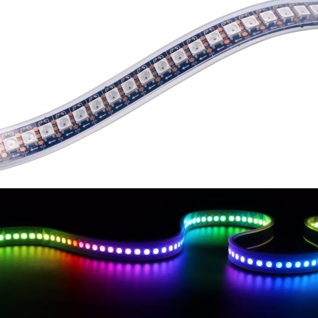 LED Waterproof 1/2M 2812 Full Color 30 60 96 144 LED Pixel/M SMD 5050 Built-in IC Programmable Addressable 5V Strip lights IP68