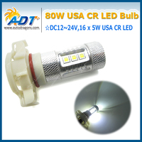 4 XCar XBD Led H16 וווים מלא Cr 5202 9009 2504 80 W הנורה לבן חזק במיוחד נהיגה זנב הוביל הנורה פנס ערפל אור drl עם עדשה