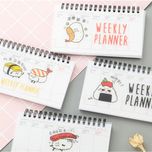 Cartoon Coil Journal Notebook Diary Weekly Planner Kawaii Diary Agenda Planner Organizer For Kids Student Gift Korean Stationery стоимость