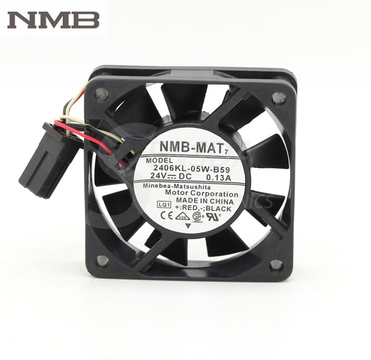 NMB 2406KL-05W-B59-LQ1 6CM 24V 0.13A server computer pc case cpu cooling fans