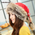 New Winter Women Multifunctional Knitted Scarf Hat High Quality Thickened Warm Polyester Beanies Casual Mongolian Cap Free Size