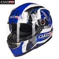 LS2 Fiberglass Motorcycle Helmet Full Face Street Motobike Motocicleta Cacapete Casco Casque Kask FF396E Men Racing Helmets ECE