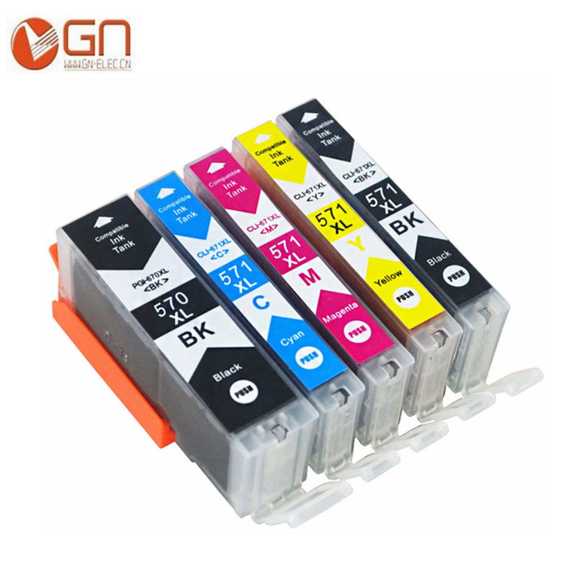GN 570 571 PGI-570 CLI-571 compatible ink cartridge For canon PIXMA MG5750 MG5751 MG5752 MG6850 MG6851 MG6852 TS6050 <font><b>TS5050</b></font> 5051 image