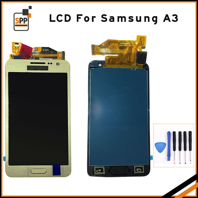 LCD screen touch digitizer for Samsung A3 2015 Galaxy A3000 display assembly home button replacement 4